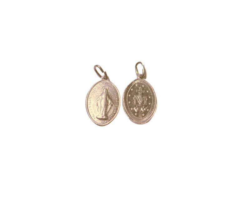 Milagrosa mini. x 100u Medalla de aluminio