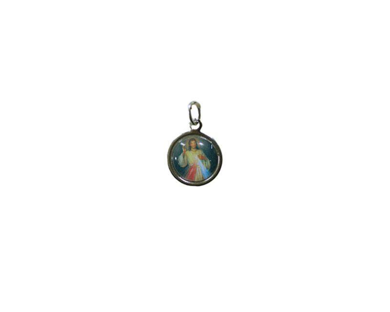Jesús Misericordioso. 16mm Medalla de color