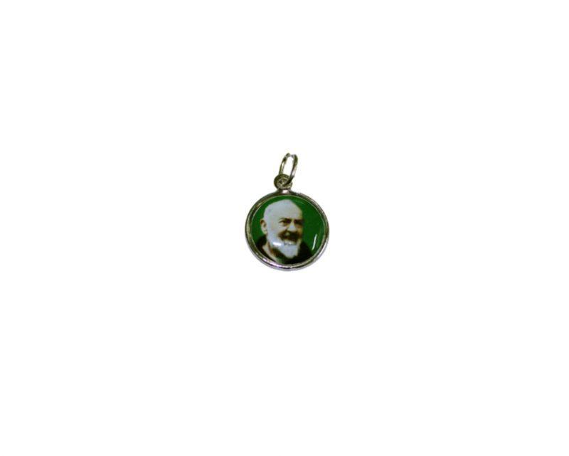 Padre Pio. 16mm Medalla de color