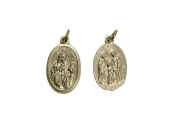 Santa Ana/Sagrada Familia. 2cm Medalla ovalada plateada