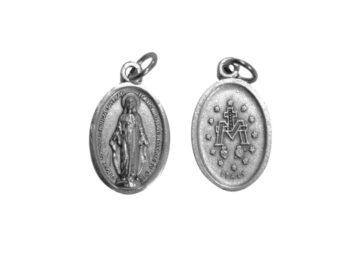 V. Medalla Milagrosa. 2cm Medalla ovalada plateada