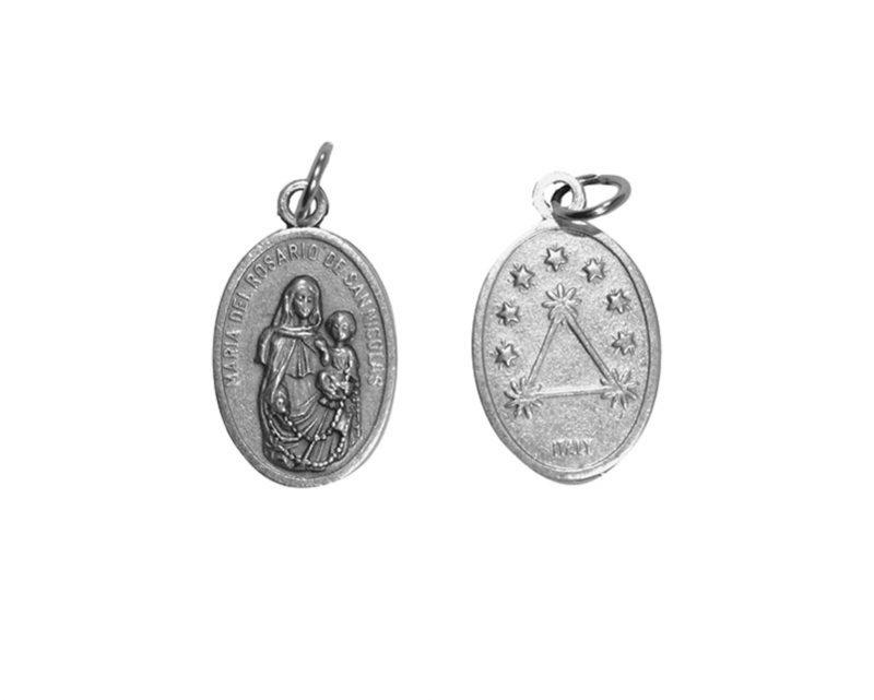 V.R. de San Nicolás. 2cm Medalla ovalada plateada