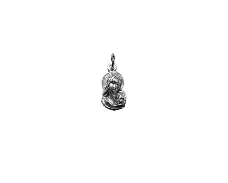 Virgen c/niño mediana Medalla plateada