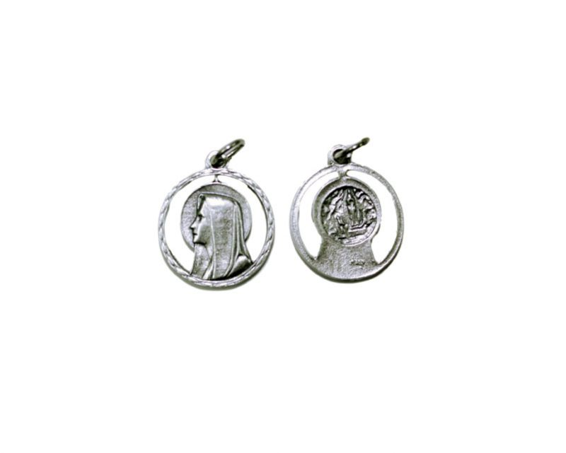 TL22 Virgen c/aureola Medalla plateada