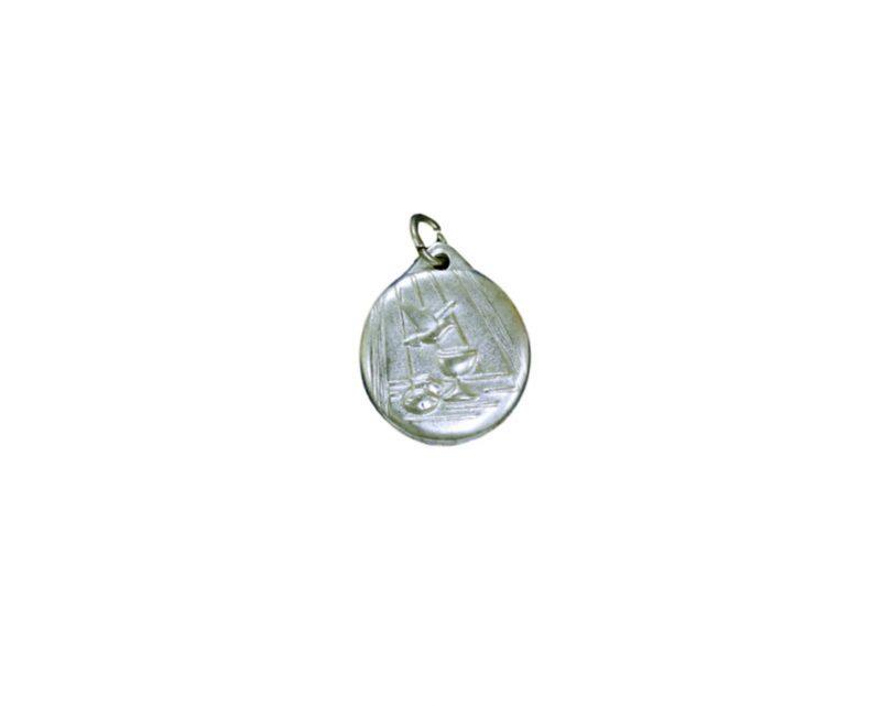 Comunión c/cáliz y paloma Medalla plateada