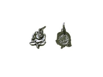Rositas simples Lourdes Medalla plateada