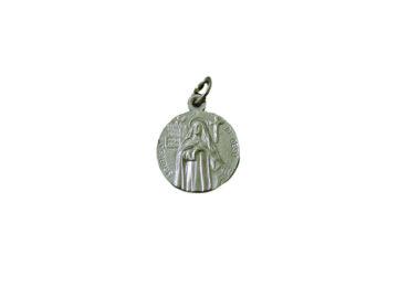 Santa Teresa de Avila redonda Medalla italiana plateada 18mm