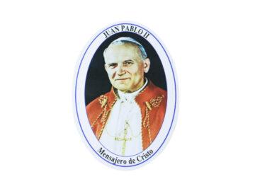 Adhesivos doble faz ovalado Juan Pablo II. 11cm
