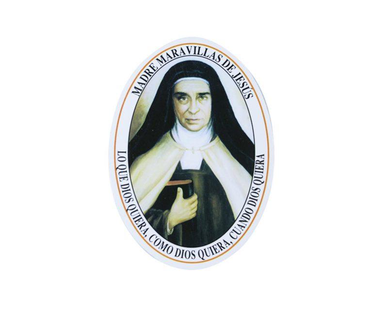 Adhesivos doble faz ovalado Madre Maravillas de Jesús 11cm