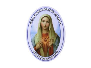 Adh doble faz oval Inmaculado Corazón de María. 11cm