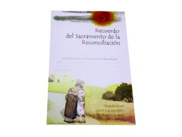 Recuerdo de Reconciliación 26x17,5cm. Modelos varios
