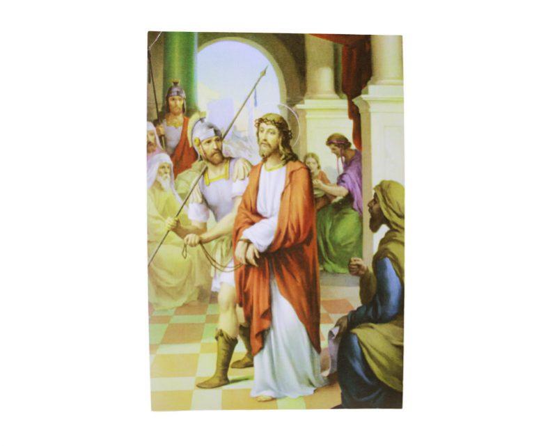 Laminas - Juego de Vía Crucis 10 x 6cm. Italiano