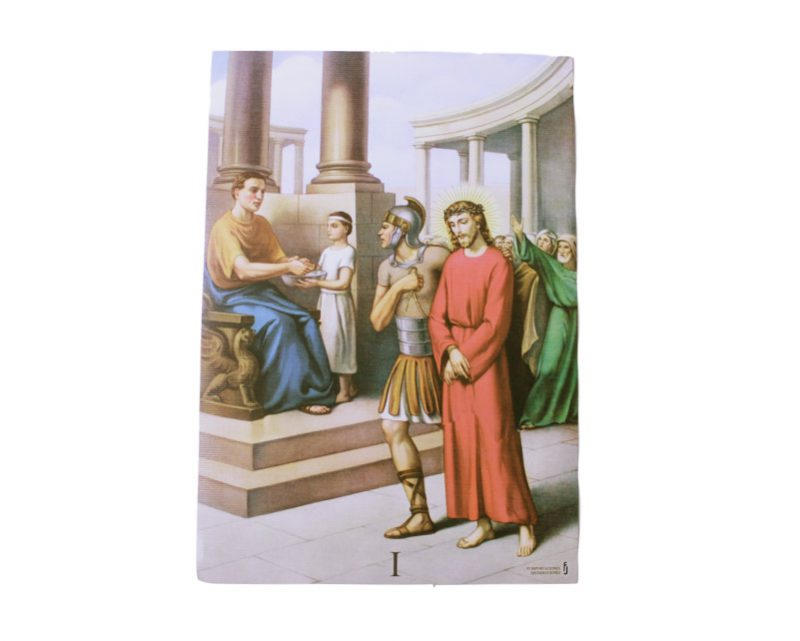 Laminas - Juego de Vía Crucis 30 x 21cm. Nacional