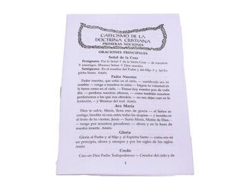 Libro Catecismo 1eras Nociones 16 pág c/96 preg tradicionales