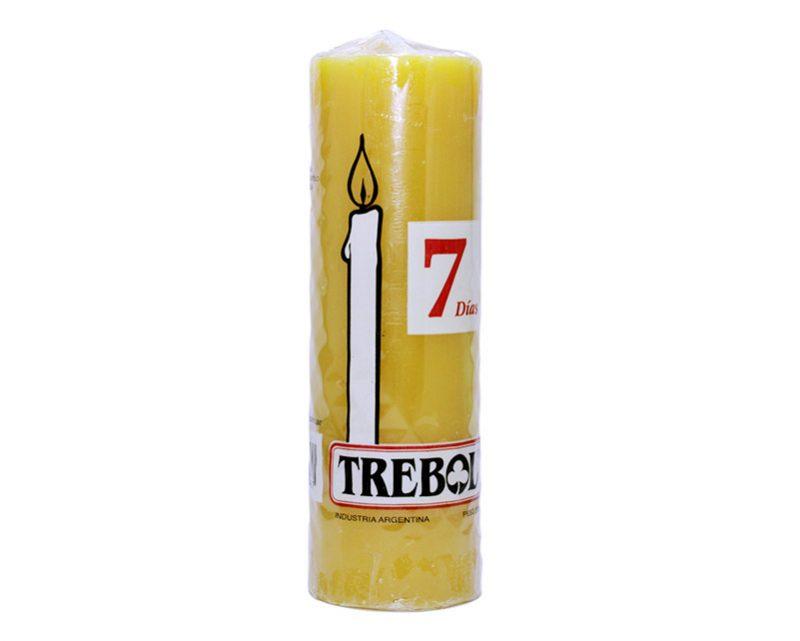 Velón liso 7 días amarilla