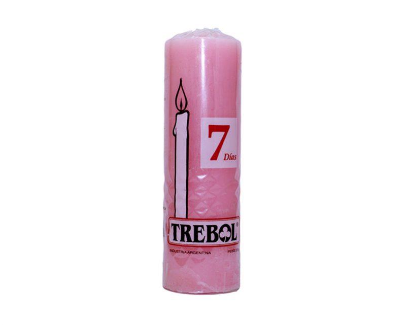 Velón liso 7 días rosa