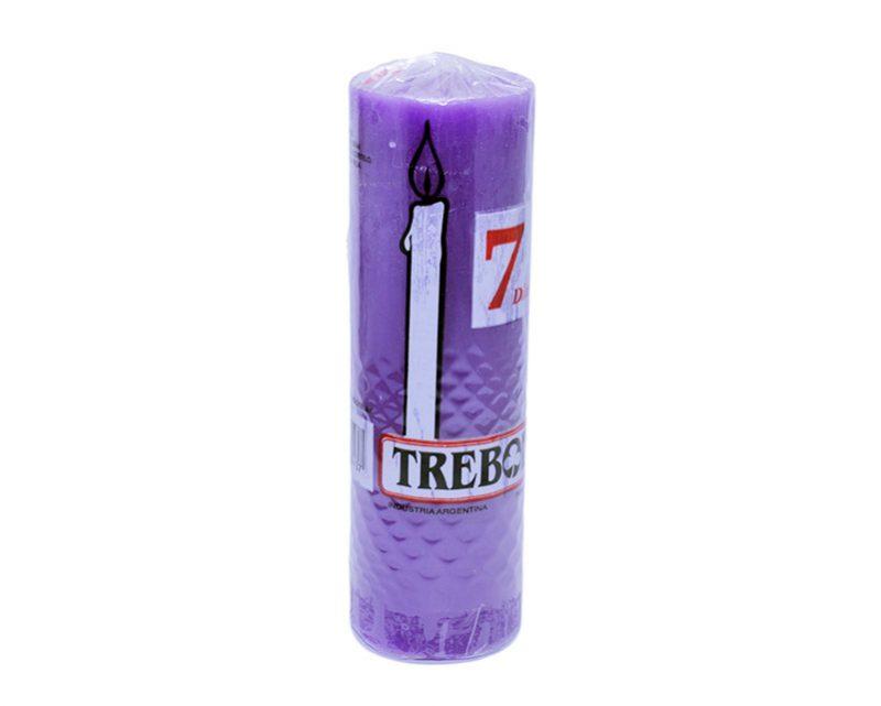 Velón liso 7 días violeta