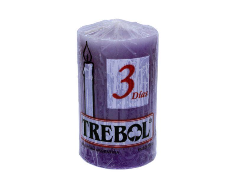 Velón liso 3 días violeta