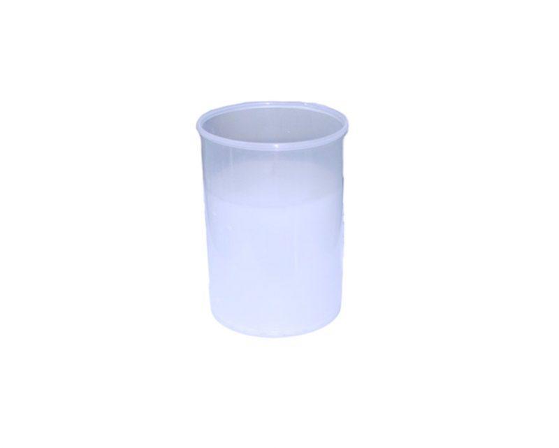 Vela votiva mediana c/vaso plástico blanco (36 hs)