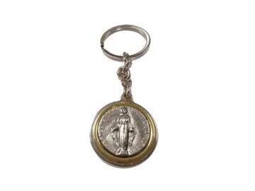 Medalla Milagrosa Llav. fundición c/borde dorado