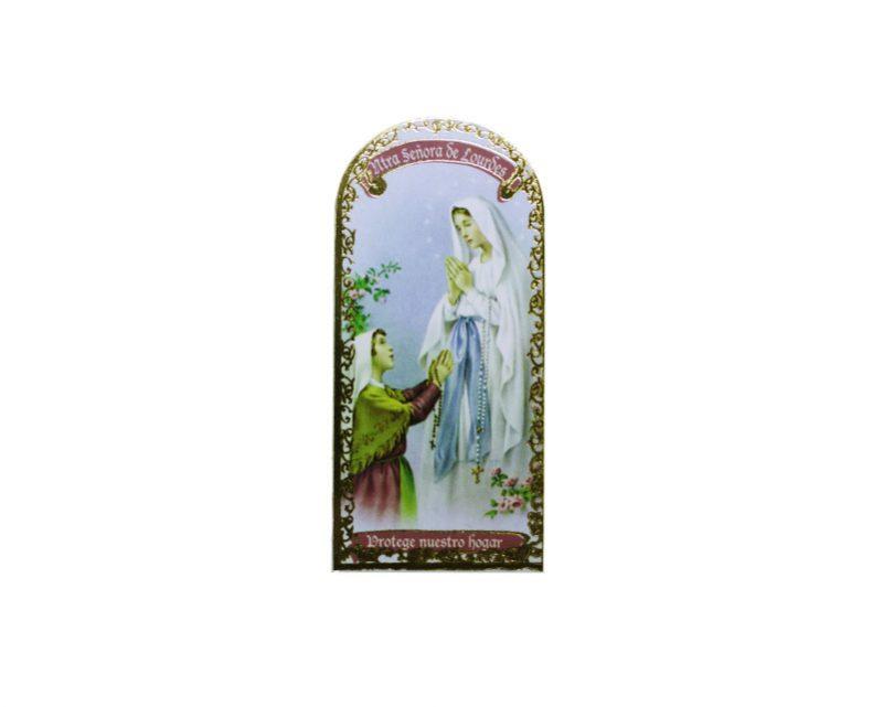 Nuestra Señora de Lourdes3x7cm Imán Capilla de cartón