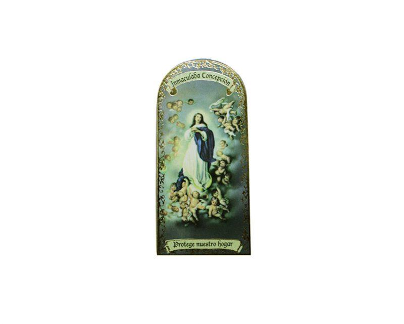 Inmaculada Concepción 3x7cm Imán Capilla de cartón