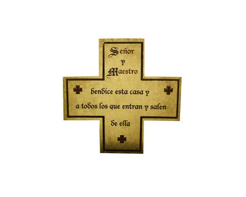 Señor y Maestro 3x7cm Imán Cruz de cartón