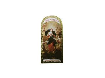 Virgen Desatanudos 3x7cm Imán Capilla de cartón
