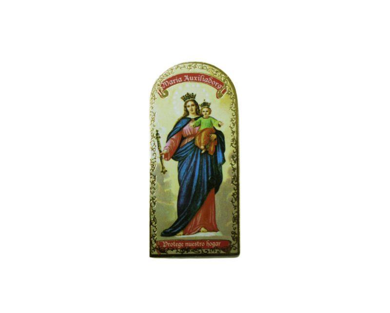 María Auxiliadora 3x7cm Imán Capilla de cartón