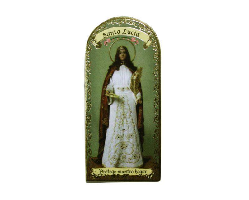 Santa Lucía 3x7cm Imán Capilla de cartón