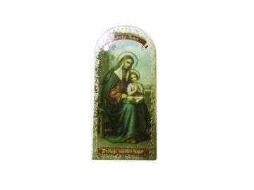 Santa Ana 3x7cm Imán Capilla de cartón
