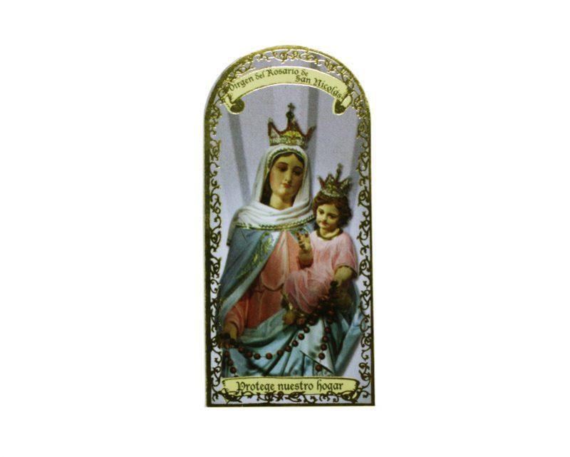 V. Rosario de San Nicolas3x7cm Imán Capilla de cartón