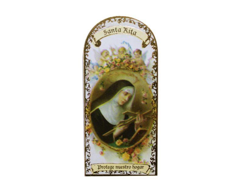 Santa Rita 3x7cm Imán Capilla de cartón