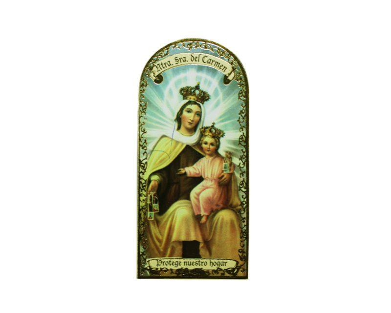 Nuestra Señora del Carmen3x7cm Imán Capilla de cartón