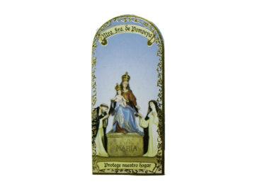 Nuestra Señora de Pompeya3x7cm Imán Capilla de cartón