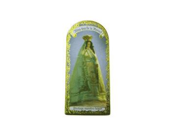 Ntra Señora de la Merced 3x7cm Imán Capilla de cartón