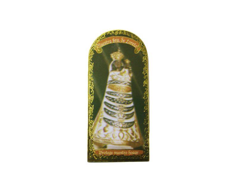 Nuestra Señora de Loreto 3x7cm Imán Capilla de cartón