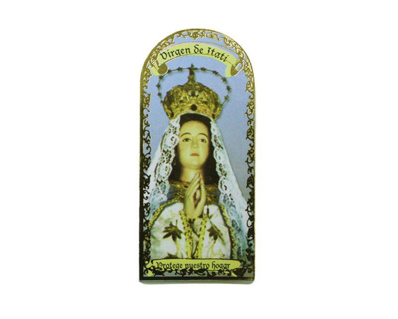 Virgen de Itatí 3x7cm Imán Capilla de cartón