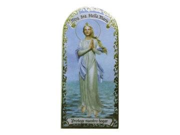 Ntra Señora Stella Maris 3x7cm Imán Capilla de cartón