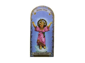 Divino Niño 3x7cm Imán Capilla de cartón