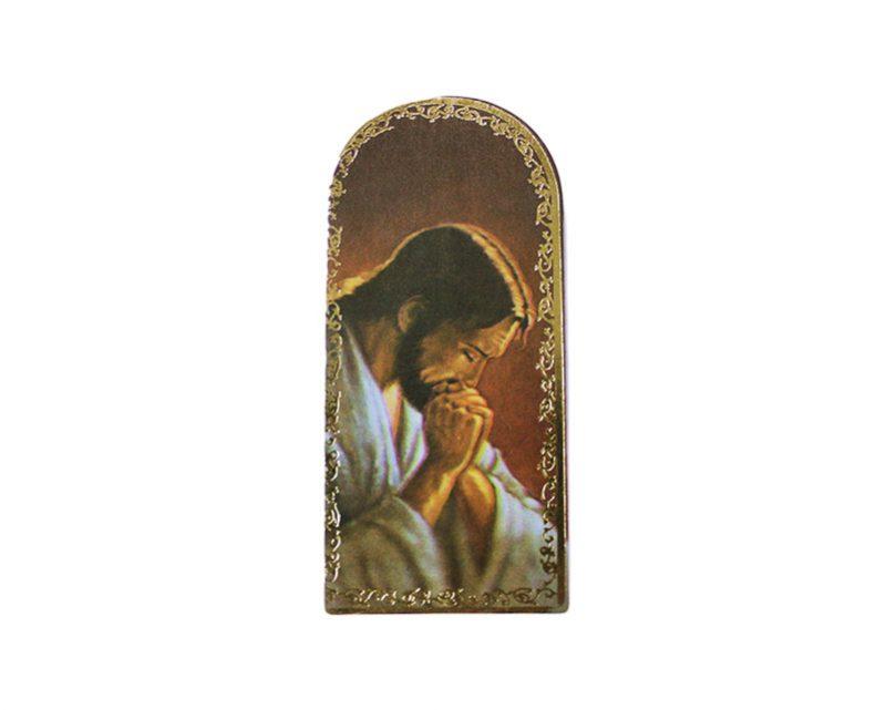Jesús Orando 3x7cm Imán Capilla de cartón