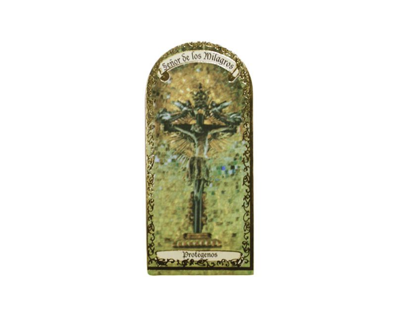 Señor de los Milagros 3x7cm Imán Capilla de cartón
