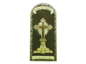 Cristo del Mailin 3x7cm Imán Capilla de cartón