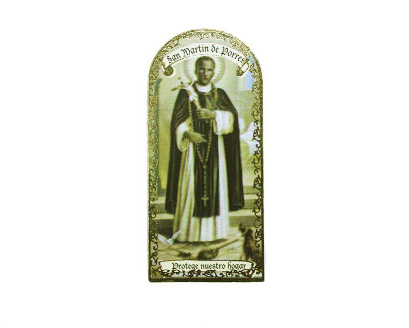 San Martin de Porres 3x7cm Imán Capilla de cartón