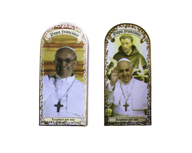 Papa Francisco 3x7cm Imán Capilla de cartón