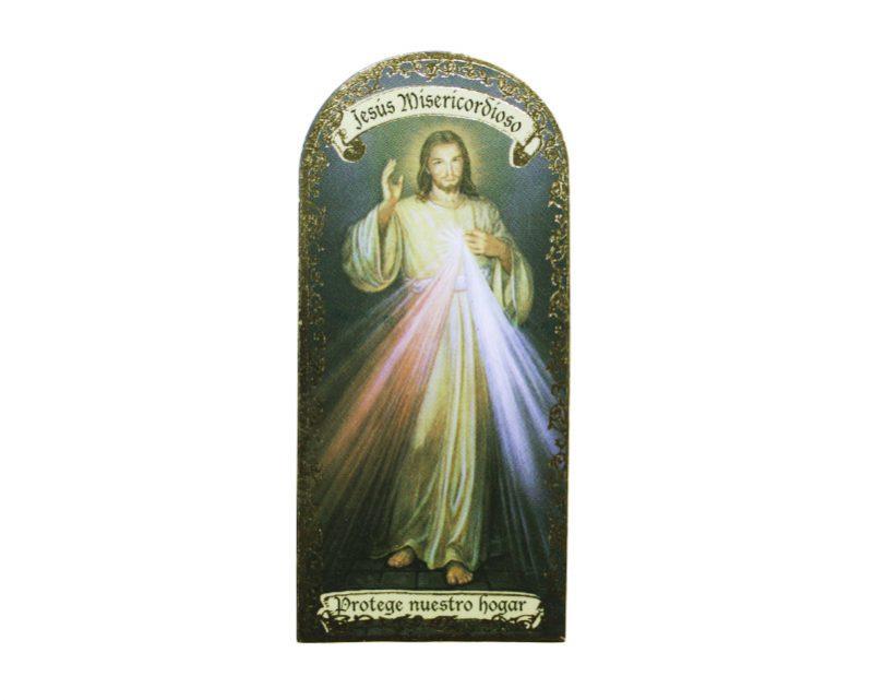 Jesús Misericordioso 3x7cm Imán Capilla de cartón