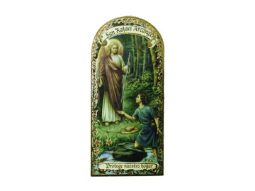 San Rafael Arcángel 3x7cm Imán Capilla de cartón