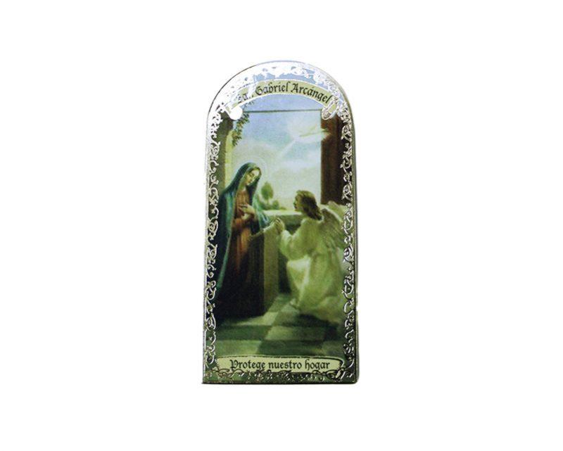 San Gabriel Arcángel 3x7cm Imán Capilla de cartón