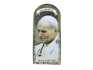 Juan Pablo II 3x7cm Imán Capilla de cartón