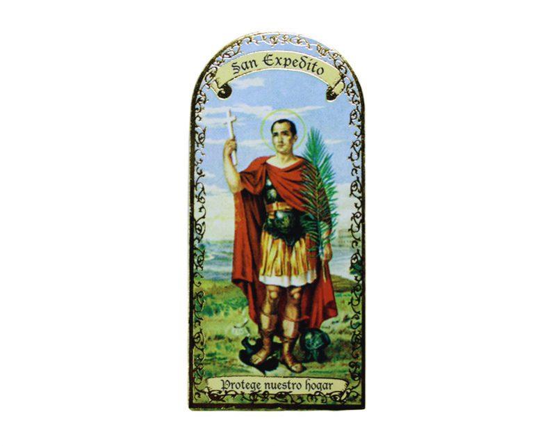 San Expedito 3x7cm Imán Capilla de cartón